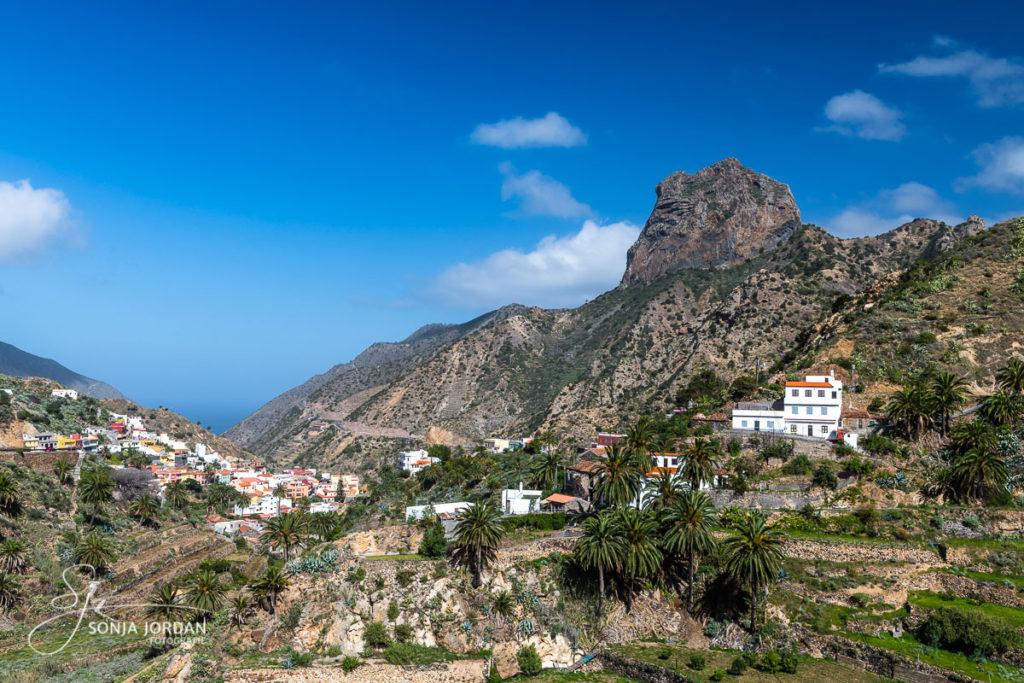 Vallehermoso mit Wahrzeichen Roque Cano