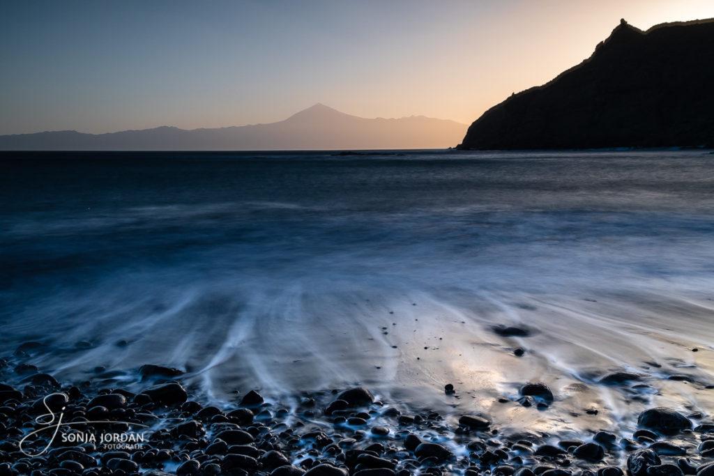 Sonnenaufgang am Strand Playa de Caleta